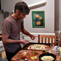 Keith Makes His Famous Pizzas