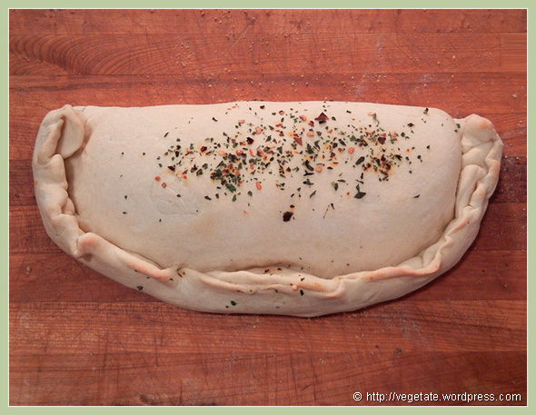 Vegan Pepperoni & Cheese Calzone - From Vegetate, Vegan Cooking & Food Blog
