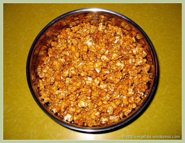 Light, Crunchy Caramel Corn - From Vegetate, Vegan Cooking & Food Blog