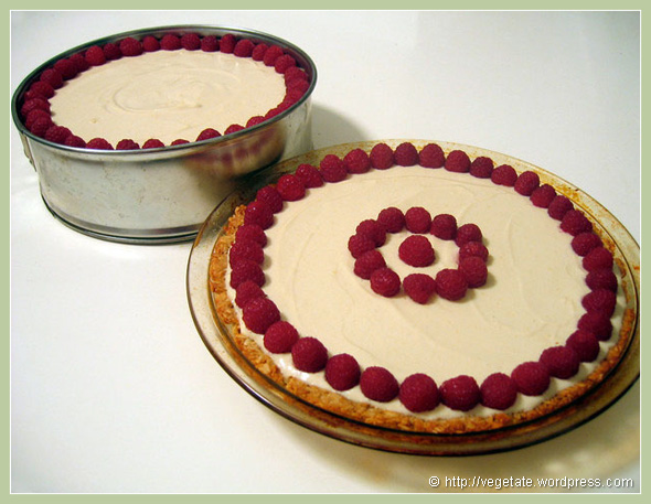 Cashew Cheesecake w/Raspberries - From Vegetate, Vegan Cooking & Food Blog