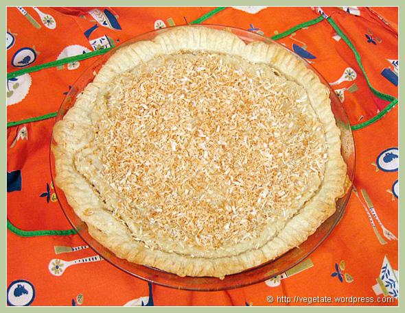 Coconut Custard Pie - From Vegetate, Vegan Cooking & Food Blog