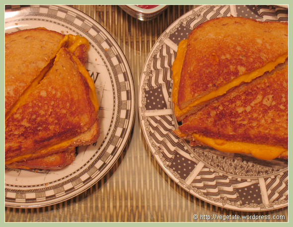 Gooey Grilled Cheese Sammies - From Vegetate, Vegan Cooking & Food Blog