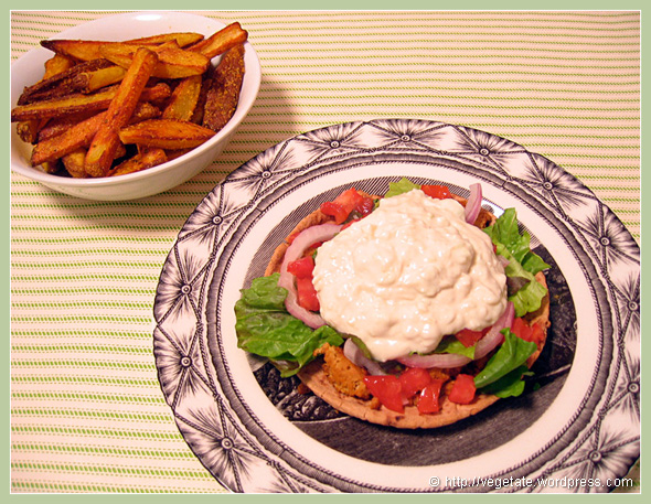 Homemade Gyros & Popcorn Fries - From Vegetate, Vegan Cooking & Food Blog