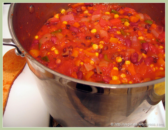 Aye Aye Aye Chili - from Vegetate, Vegan Cooking and Food Blog