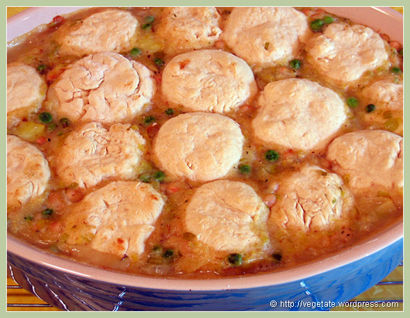 Leek & White Bean Casseolet w/Biscuits - from Vegetate, Vegan Cooking and Food Blog