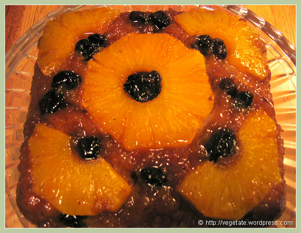 Pineapple Upside-Down Cake - from Vegetate, Vegan Cooking and Food Blog