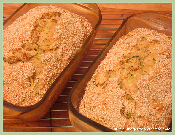 Tahini Zucchini Bread - from Vegetate, Vegan Cooking and Food Blog