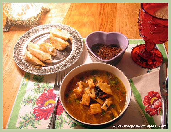 Wild Mushroom Hot & Sour Soup - from Vegetate, Vegan Cooking and Food Blog