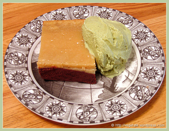 Black-Bottom Blondies & Green Tea Ice Cream - From Vegetate, Vegan Cooking & Food Blog