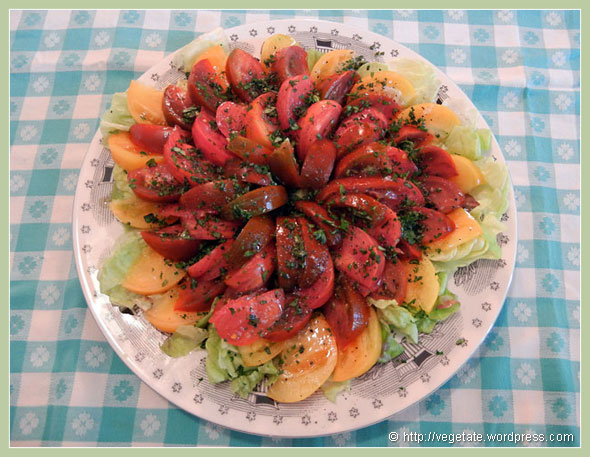 Fresh Tomato Salad ~ From Vegetate, Vegan Cooking & Food Blog