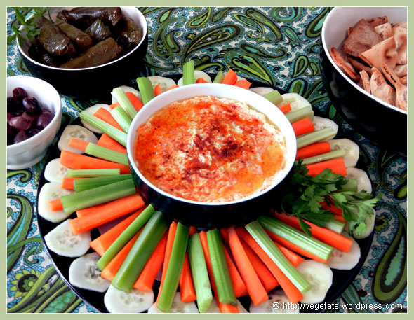 Hummus Platter ~ From Vegetate, Vegan Cooking & Food Blog