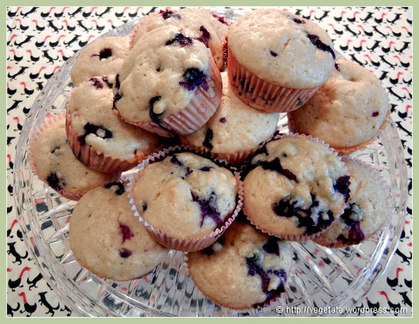 Blueberries & Cream Muffins ~ From Vegetate, Vegan Cooking & Food Blog