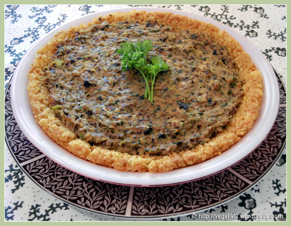 Millet Crusted Mushroom Leek Pie ~ From Vegetate, Vegan Cooking & Food Blog