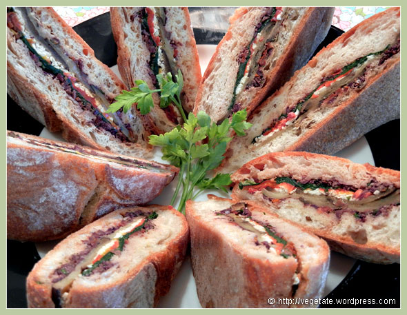 Roasted Eggplant & Muffuletta Sandwich ~ From Vegetate, Vegan Cooking & Food Blog