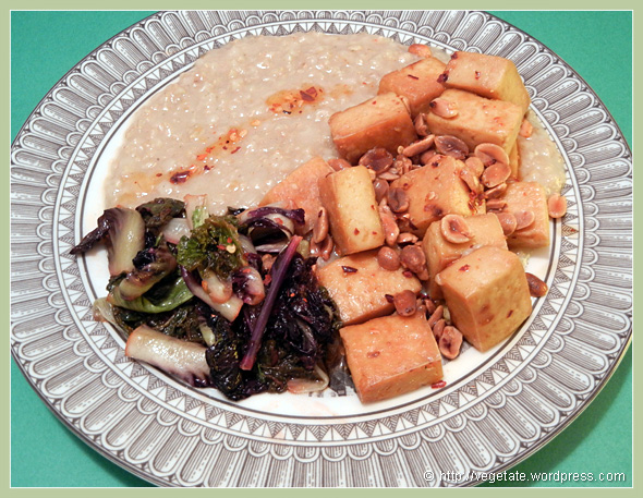 Tofu w/Roasted Peanuts in Chili Oil ~ From Vegetate, Vegan Cooking & Food Blog
