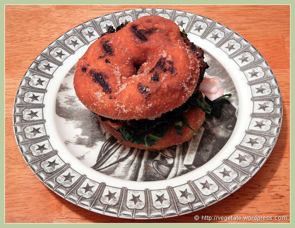 Donut Burger ~ From Vegetate, Vegan Cooking & Food Blog