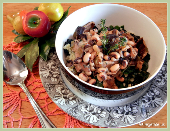 Quinoa & Chard w/Sherry-Glazed Mushrooms ~ From Vegetate, Vegan Cooking & Food Blog