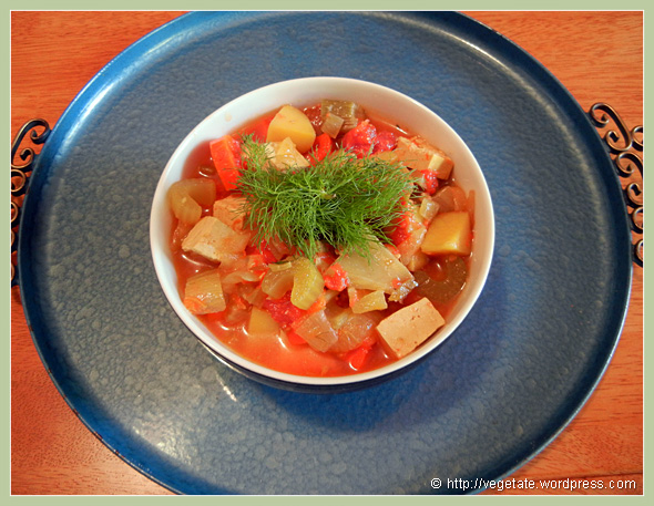 Tofu Bouillabaisse ~ From Vegetate, Vegan Cooking & Food Blog