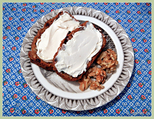 Carrot Bread w/Dairy-Free Cream Cheese ~ From Vegetate, Vegan Cooking & Food Blog