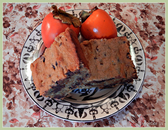 Persimmon Blondies ~ From Vegetate, Vegan Cooking & Food Blog