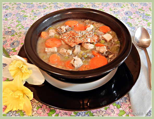 Chicken & Wild Rice Soup ~ From Vegetate, Vegan Cooking & Food Blog