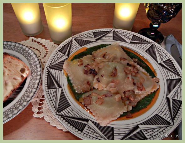 Sweet Pea Ravioli ~ From Vegetate, Vegan Cooking & Food Blog