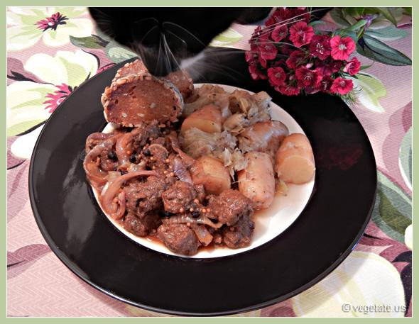 Corned Beefless Brisket & Cabbage ~ From Vegetate, Vegan Cooking & Food Blog