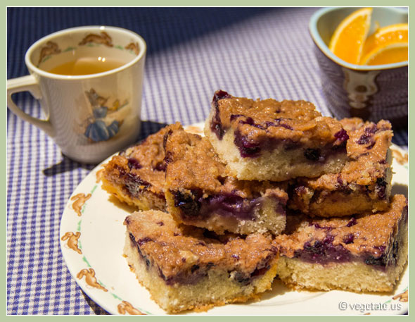 Vegan Blueberry Cake ~ From Vegetate, Vegan Cooking & Food Blog