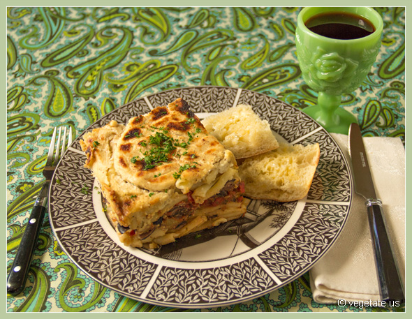Greek Eggplant Lasagna ~ From Vegetate, Vegan Cooking & Food Blog