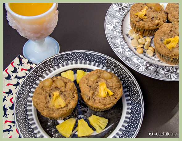 Pineapple-Date Bran Muffins ~ From Vegetate, Vegan Cooking & Food Blog