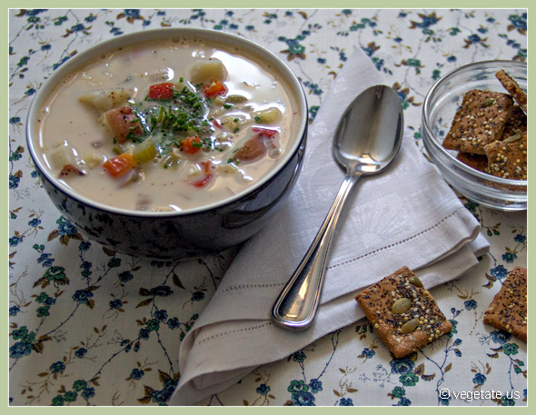 Potato Corn Chowder ~ From Vegetate, Vegan Cooking & Food Blog