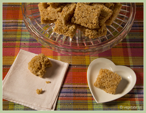Puffed Rice Bars ~ From Vegetate, Vegan Cooking & Food Blog
