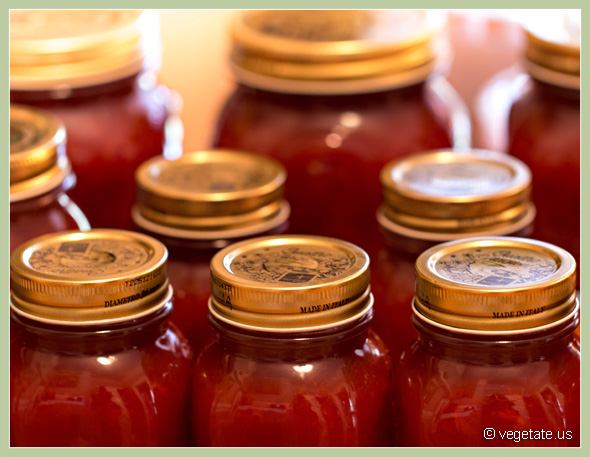 Red Cherry Plum Jam ~ From Vegetaet, Vegan Cooking & Food Blog