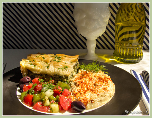 Vegan Spanikopita - Spinach Pie ~ From Vegetate, Vegan Cooking & food Blog