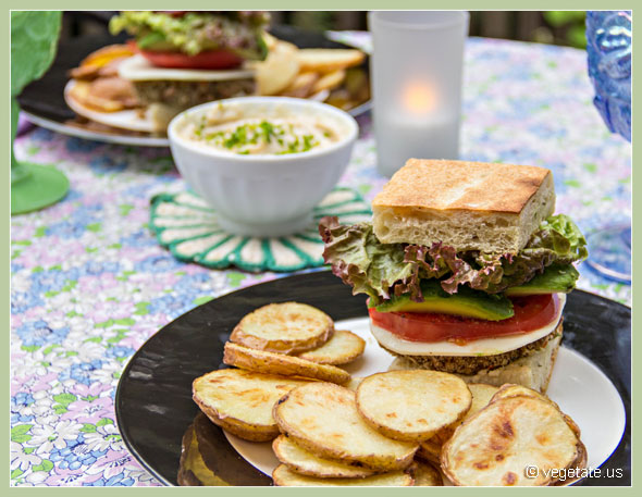 Vegetable Walnut Burgers ~ From Vegetate, Vegan Cooking & Food Blog