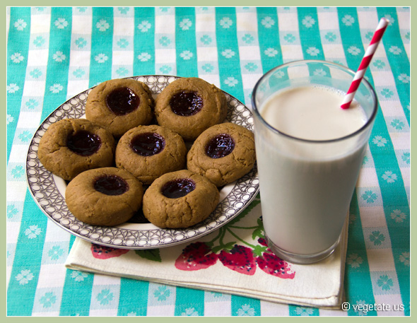 Peanut Butter and Jam Cookies ~ From Vegetate, Vegan Cooking & Food Blog