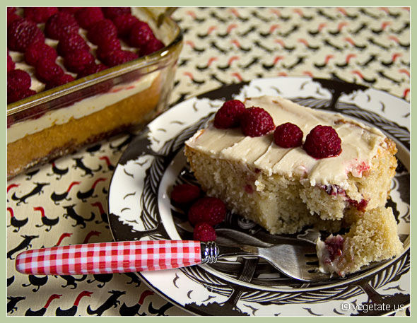 Almond Raspberry Cake ~ From Vegetate, Vegan Cooking & Food Blog