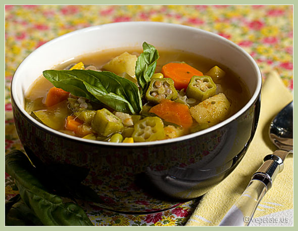 Summer's Bounty Veggie Soup ~ From Vegetate, Vegan Cooking & Food Blog