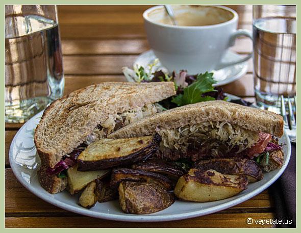 Wasabi Burger at The Plant Cafe ~ From Vegetate, Vegan Cooking & Food Blog