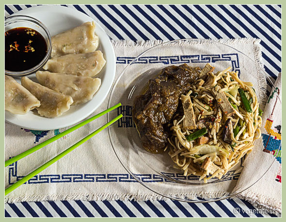 Chinese Stir-Fry Noodles with Eggplant in Garlic Sauce ~ From Vegetate, Vegan Cooking & Food Blog
