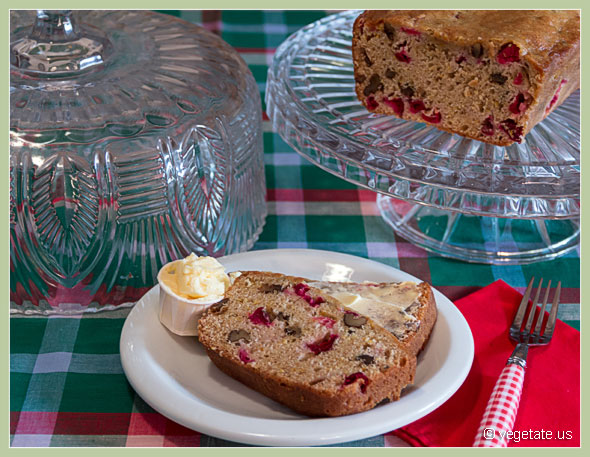 Cranberry-Orange Nut Bread ~ From Vegetate, Vegan Cooking & Food Blog
