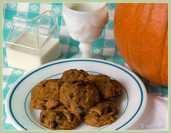 Autumn Clouds Pumpkin Chocolate Chip Cookies ~ From Vegetate, Vegan Cooking and Food Blog