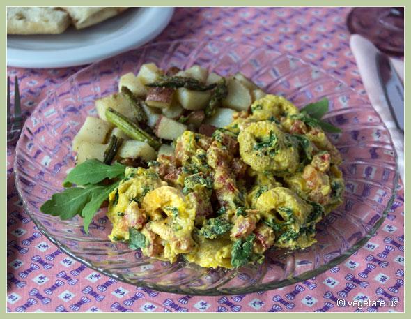 Artichoke Ricotta Tortellini with Saffron Cream Sauce ~ From Vegetate, Vegan Cooking $ Food Blog
